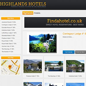 Website of Highlands Hotels